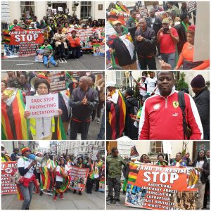 Zimbabweans in the UK & Ireland march for Freedom, Democracy and Justice, 25th October 2019 #ItsNotSanctions