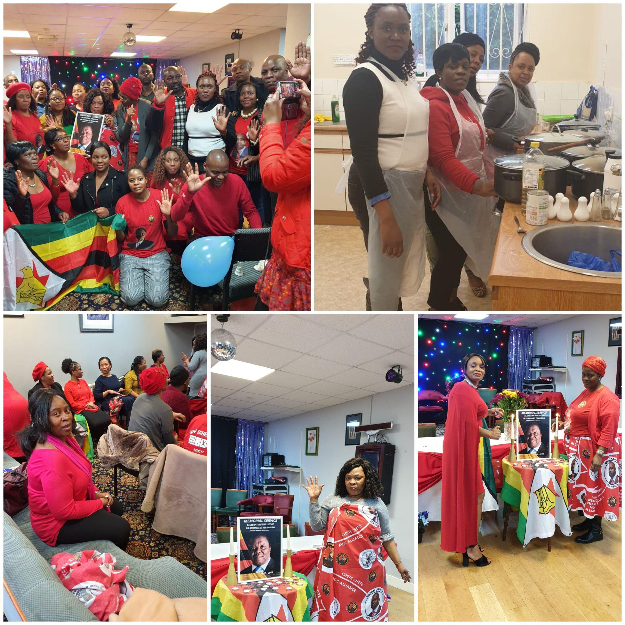 MDC UK & Ireland commemorates memorial service for the late Dr Morgan Tsvangirai, Saturday 15 February,  London